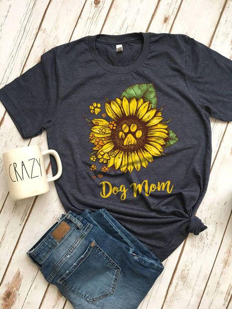 Sunflower Dog Mom T-shirt Black A5