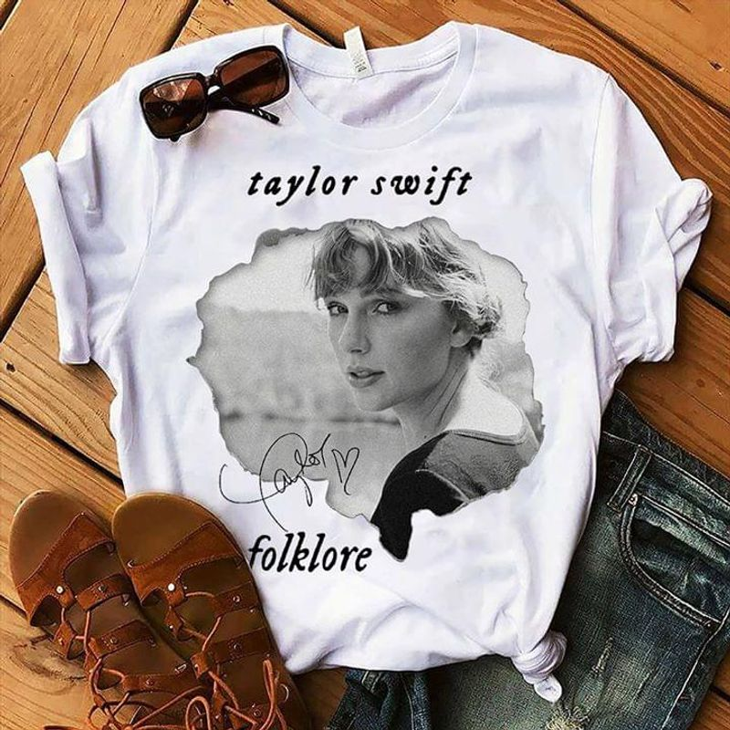 Taylor Swift Fans Signature The Best Gift White White T Shirt Men And Women S-6XL Cotton