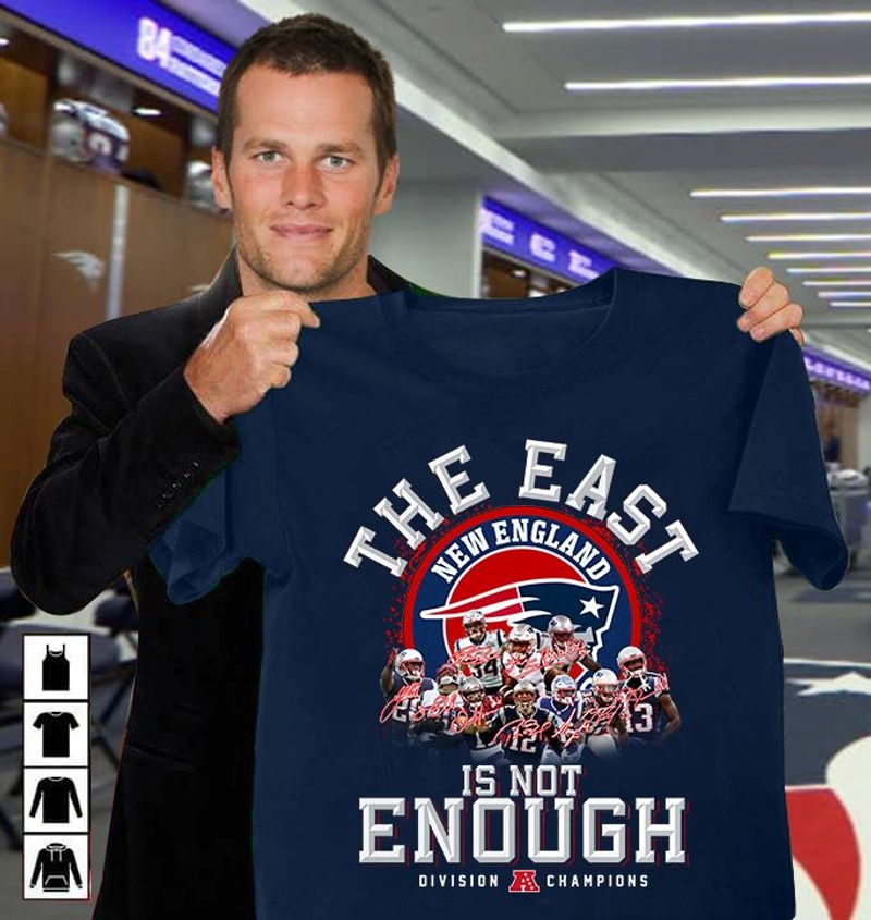 Te East New England Is Not Enough Division Champions  T Shirt Blue B1