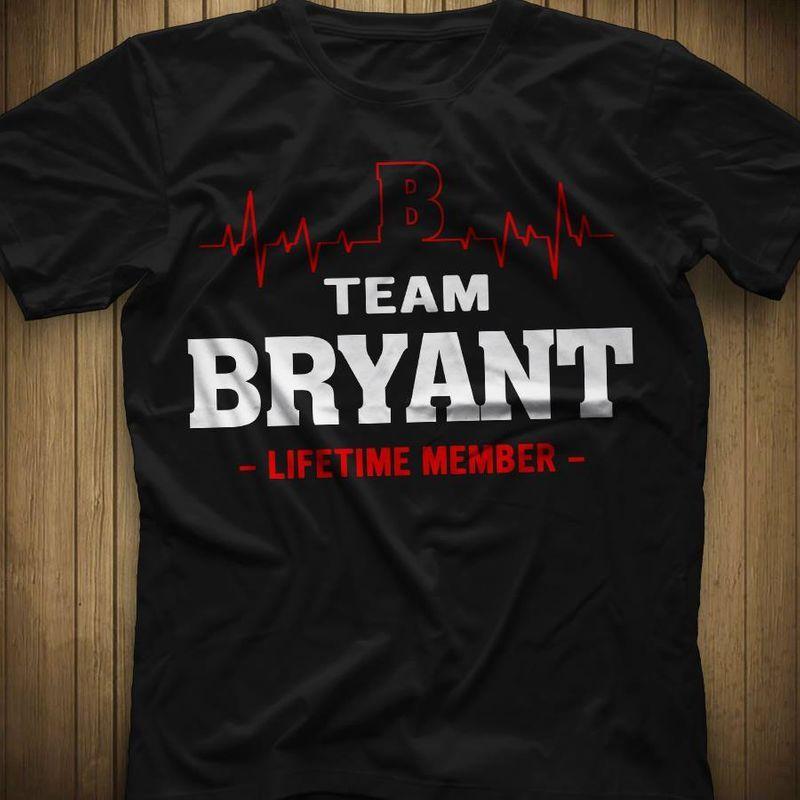 Team Bryant Lifetime Member T-shirt Black A4
