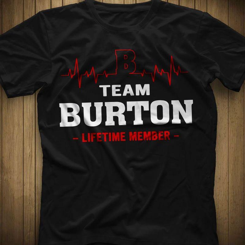 Team Burton Lifetime Member  T-shirt Black B1