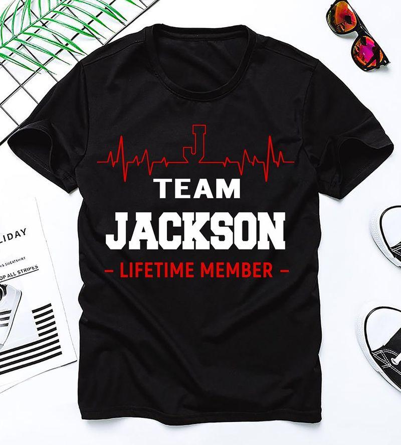Team Jackson Lifetime Member T Shirt Black A1