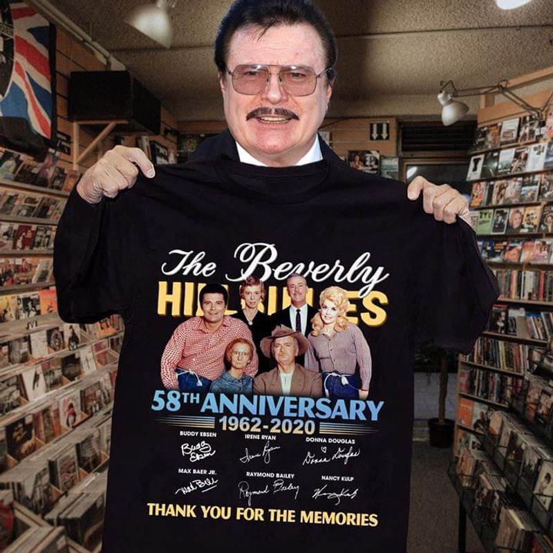 The Beverly Hillbillies Fans 58th Anniversary Thank You For The Memories Signature Black T Shirt Men And Women S-6xl Cotton