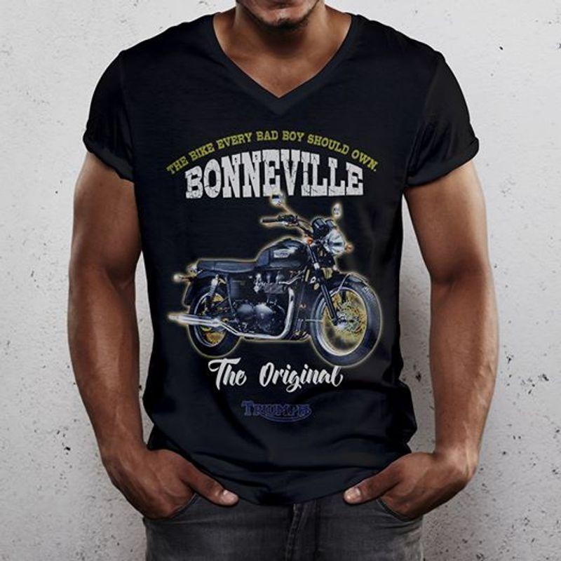 The Bike Every Bad Boy Should Own Bonneville The Original   T-shirt Black B1