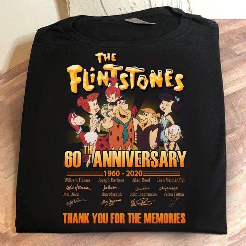 The Flintstones 60th Anniversary 1960 2020 Signature Fan Gift Black T Shirt Men And Women S-6XL Cotton