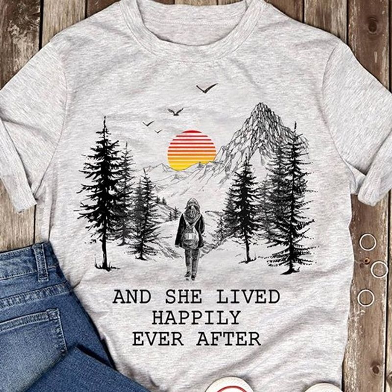The Forest And She Lived Happily Ever After  T Shirt White A5