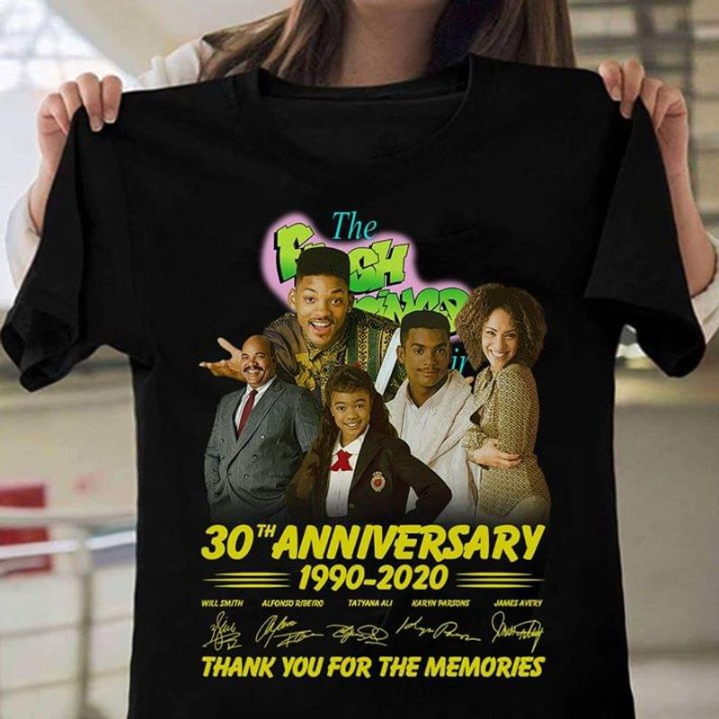 The Fresh Prince Of Bel – Air Fans 30th Annversary Signature Black T Shirt Men And Women S-6XL Cotton