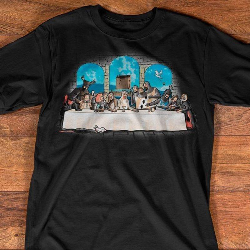 The Last Super Painting Parody Knights The Last Dinner Black T Shirt Men/ Woman S-6XL Cotton
