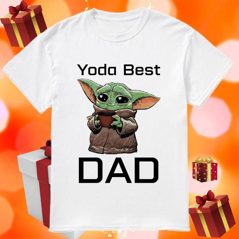 The Mandalorian Baby Yoda Best Dad T-shirt White 3