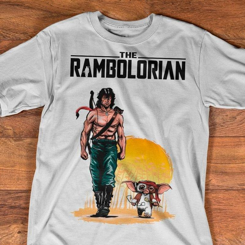 The Rambolorian Tee Rambo Shirt Gremlins T-shirt Awesome Gift For Fans White T Shirt Men And Women S-6XL Cotton
