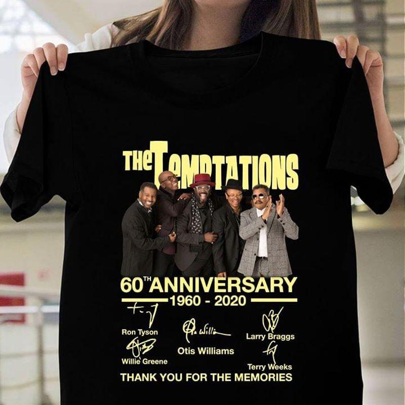The Temptations 60th Anniversary Members Signature Memories Black T Shirt Men And Women S-6XL Cotton