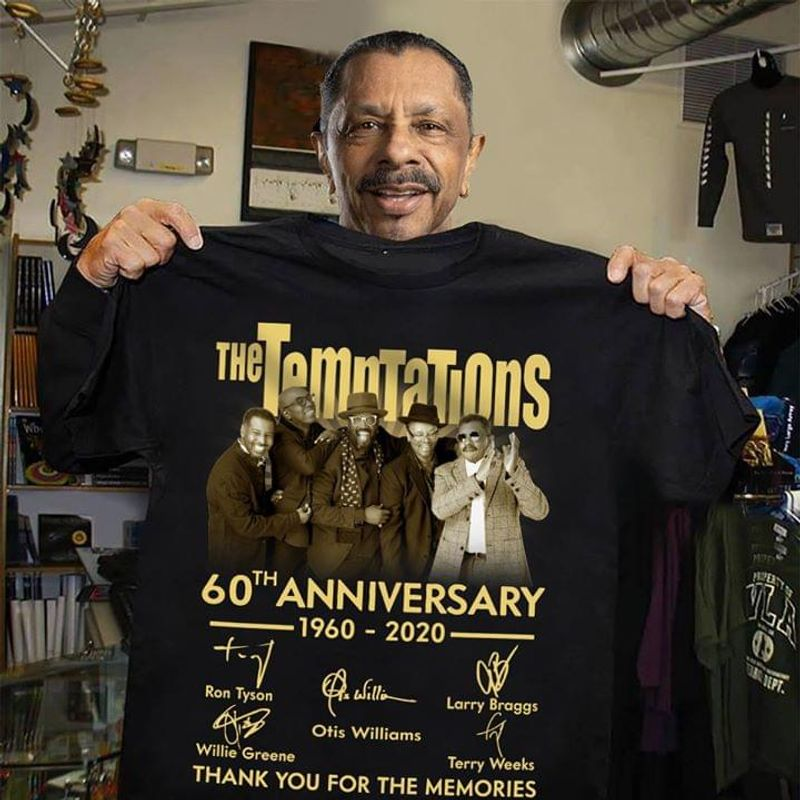 The Temptations 60Th Anniversary Signature Thank You For The Memories Black T Shirt Men And Women S-6XL Cotton