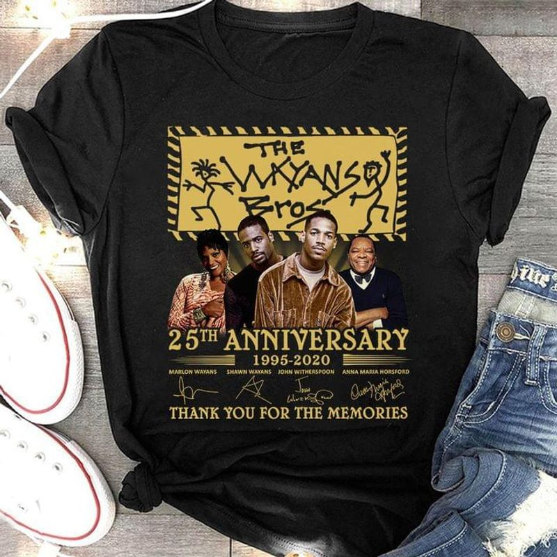 The Wayands Bros Comedy Tv Series Signature Thank Memories Fans Gift Black T Shirt Men And Women S-6XL Cotton