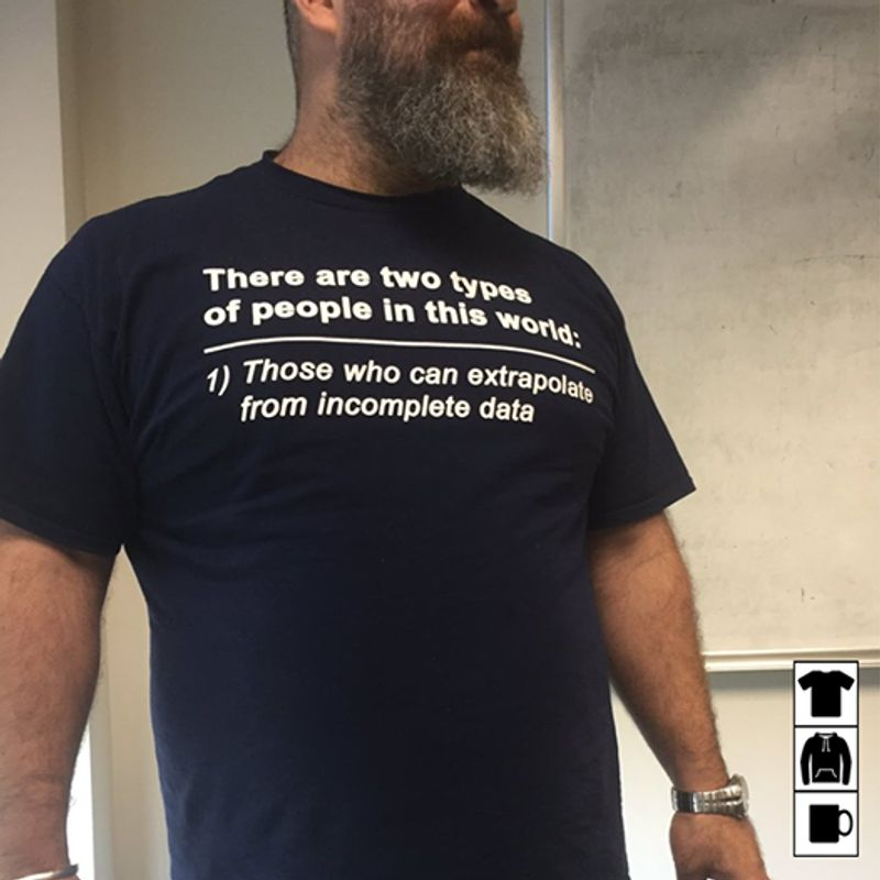 There Are Two Types Of People In This World Those Who Can Extrapolate From Incomplete Data Shirt Black  B7