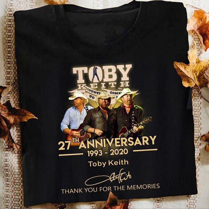 Garth Brooks Fans 35th Anniversary Signature Music Lovers Black T Shirt Men And Women S-6XL Cotton