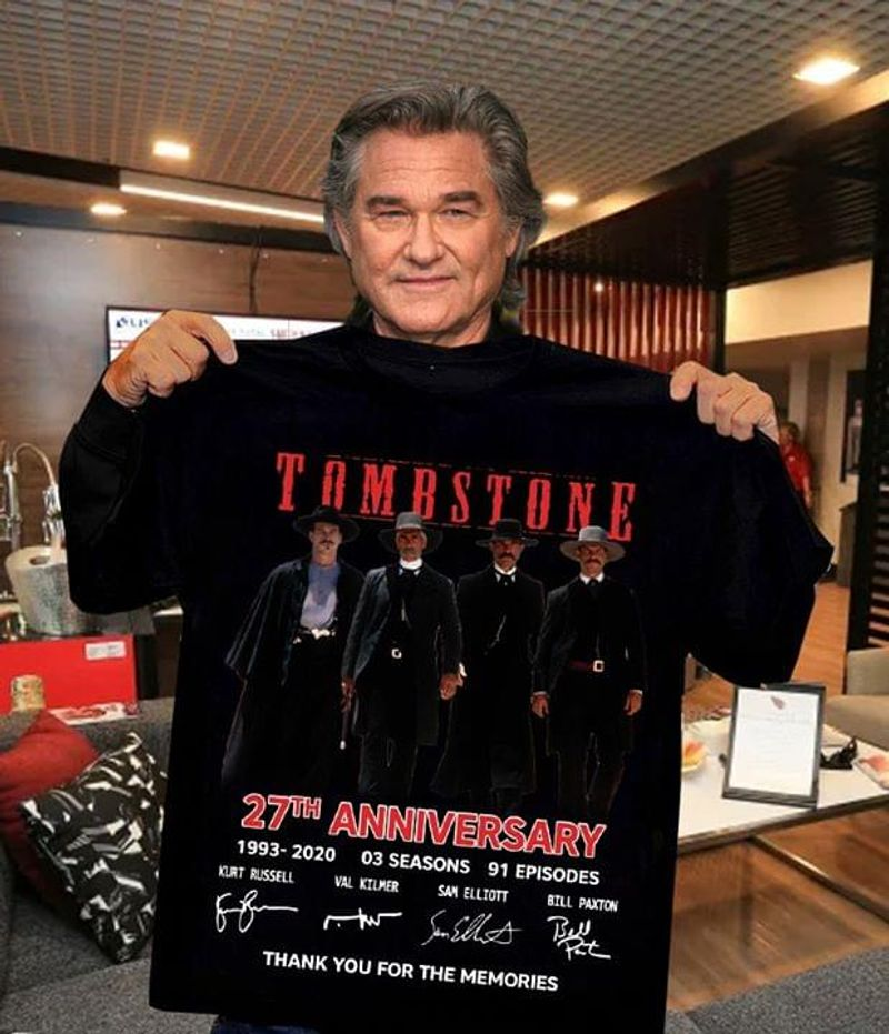 Tombstone 27th Anniversary Thank You For The Memories Tombstone Signature Black T Shirt Men And Women S-6xl Cotton