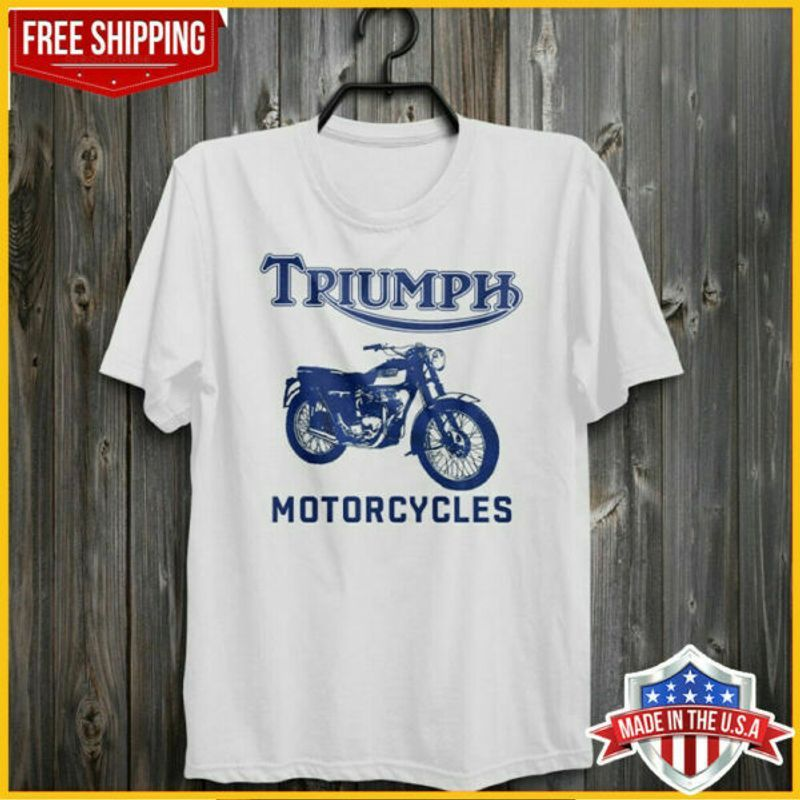 Triumph Motorcycles T Shirt Bob Dylan Highway 61 Revisited T-Shirt White Cotton