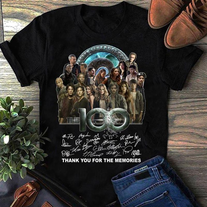 TV Series The 100 Thank You For The Memories Signature Black T Shirt Men/ Woman S-6XL Cotton