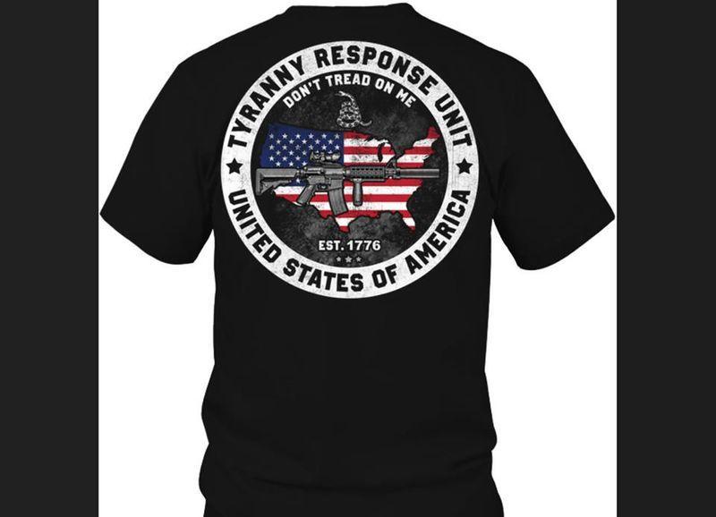 Tyranny Response Unit United States Of America T-shirt Black