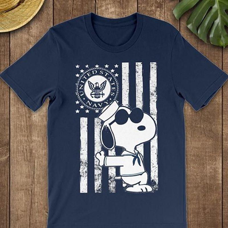 United States Navy Eagle Logo Snoopy T Shirt Navy B7