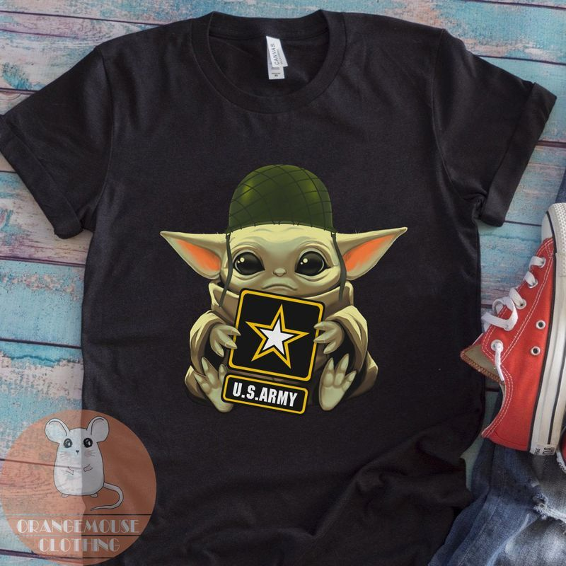 Us Army Baby Yoda Shirt – Cute Soldier Baby Yoda T-Shirt – The Child – The Mandalorian – Star Wars – Gift For Men Women – Funny Soldier Tee
