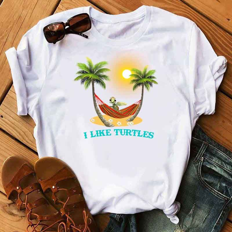 Vacation Of Turtle T Shirt White
