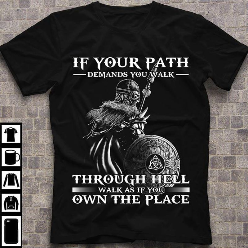 Viking Don't Waste Your Time Looking Back T Shirt Black S-6XL Men And Women Clothing