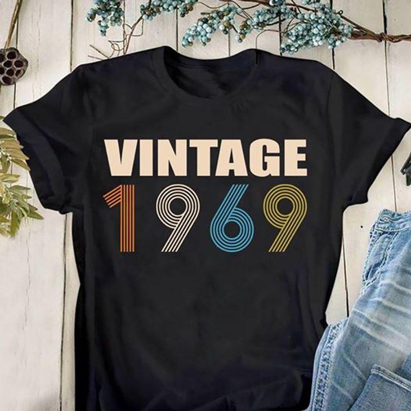 Vintage 1969  T-shirt Black B1