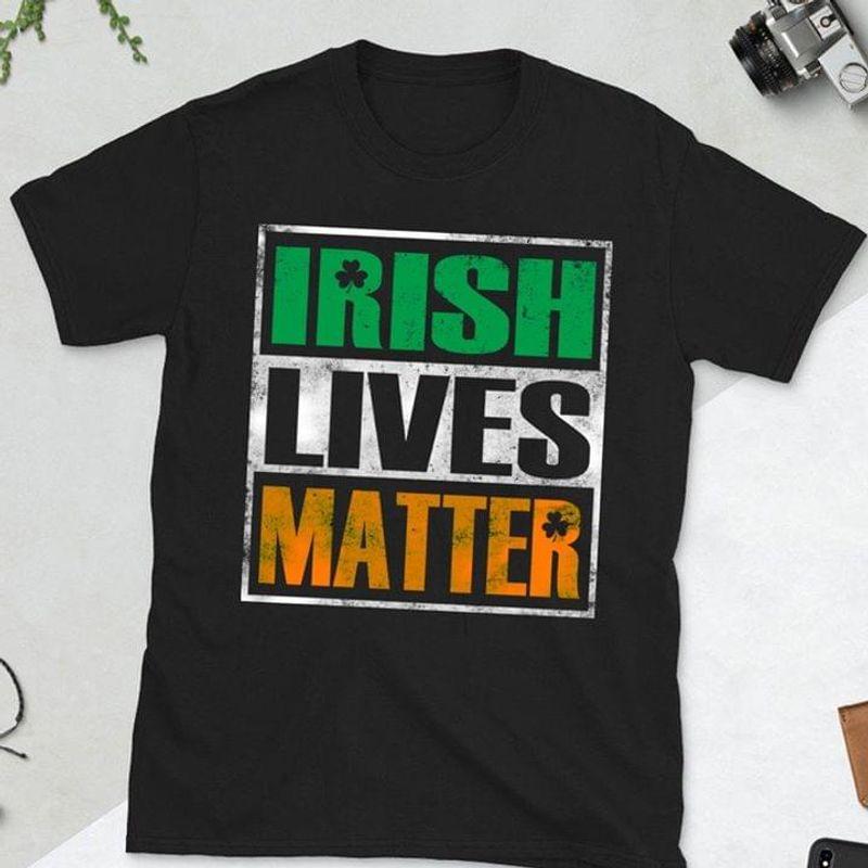 Vintage Style We Are Irish Lives Matter Clover Icon Diving Helmet Black T Shirt Men And Women S-6XL Cotton