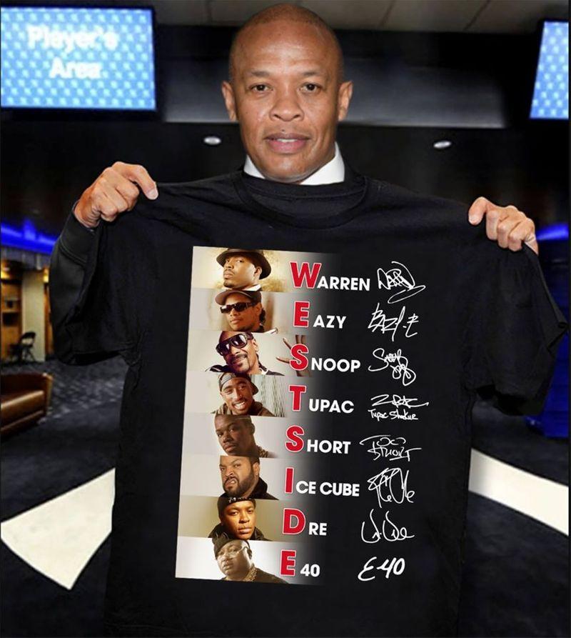 Westside Warren Eazy Snoop Tupac Signature T Shirt Black A5