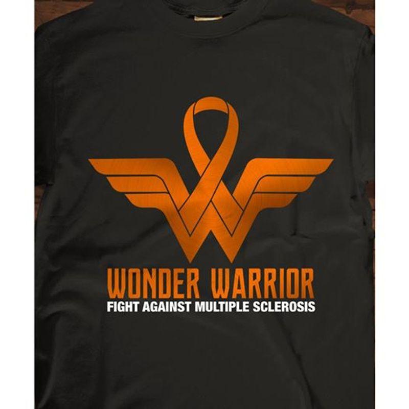 Wonder Warrior Fight Against Multiple Sclerosis T-shirt Black A4